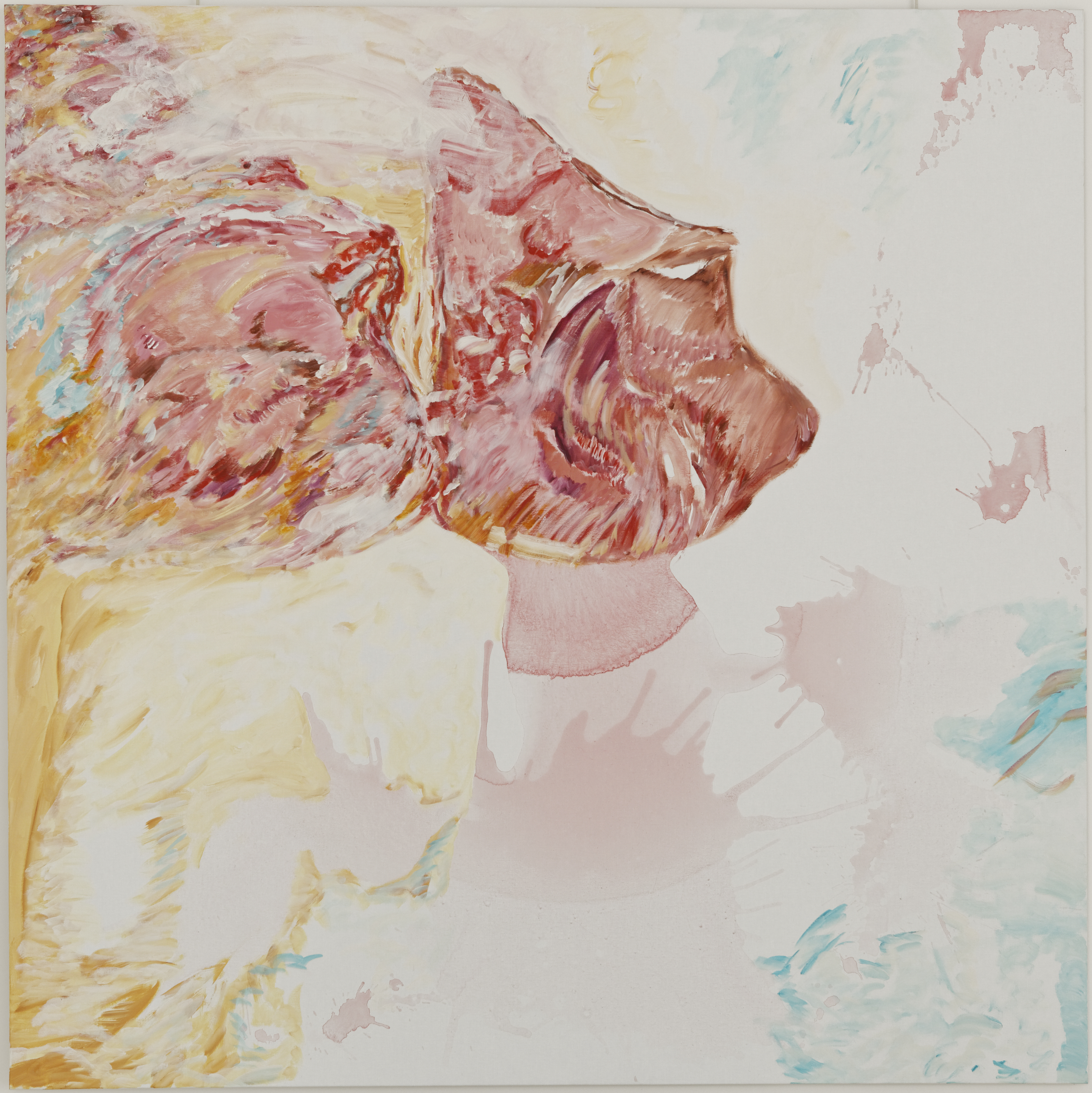A s'y sentir (acrylic on canvas, 200 x 200 cm - 2016).