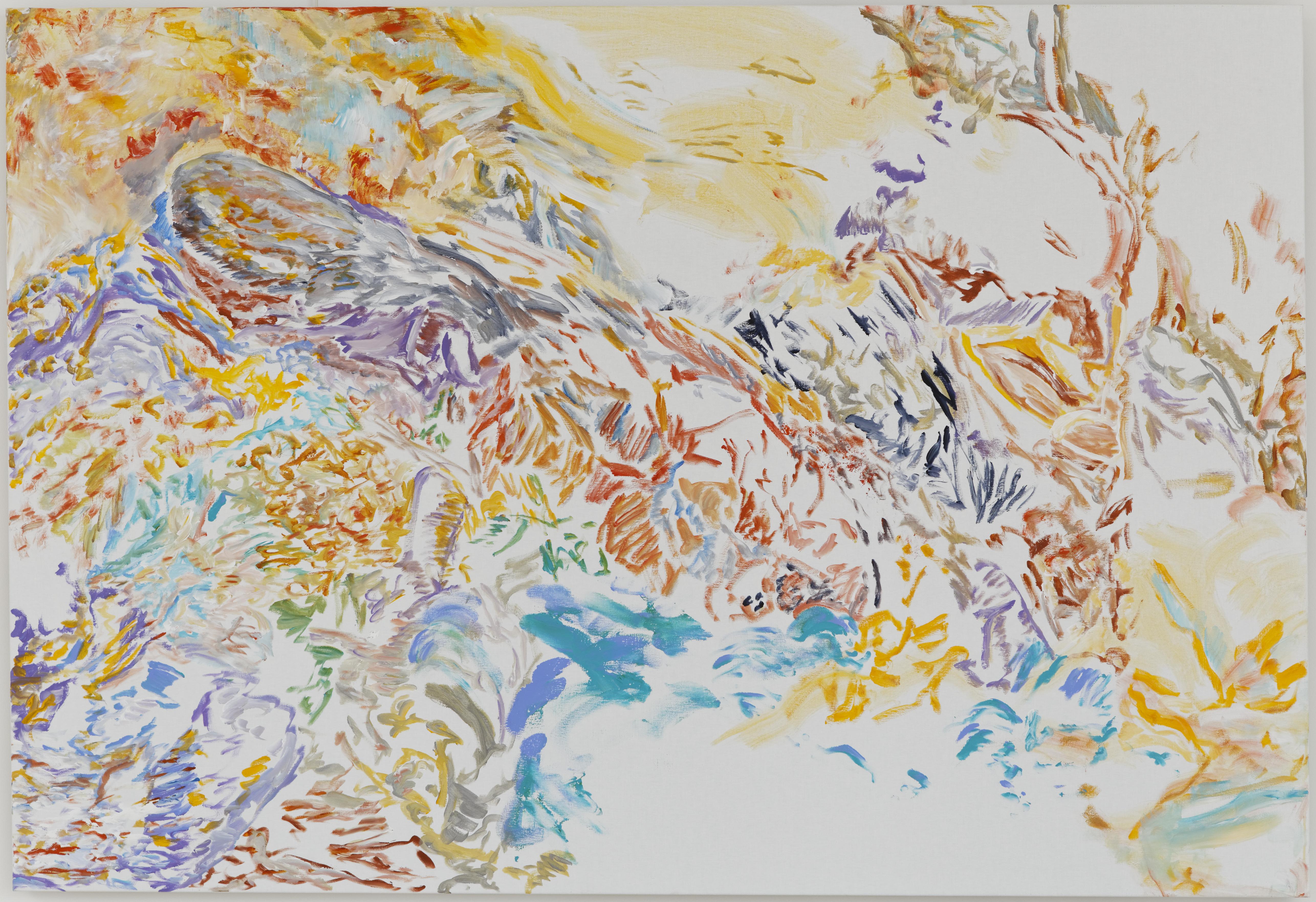 Au doigt et à l'oeil (acrylic on canvas, 130 x 190 cm - 2016).
