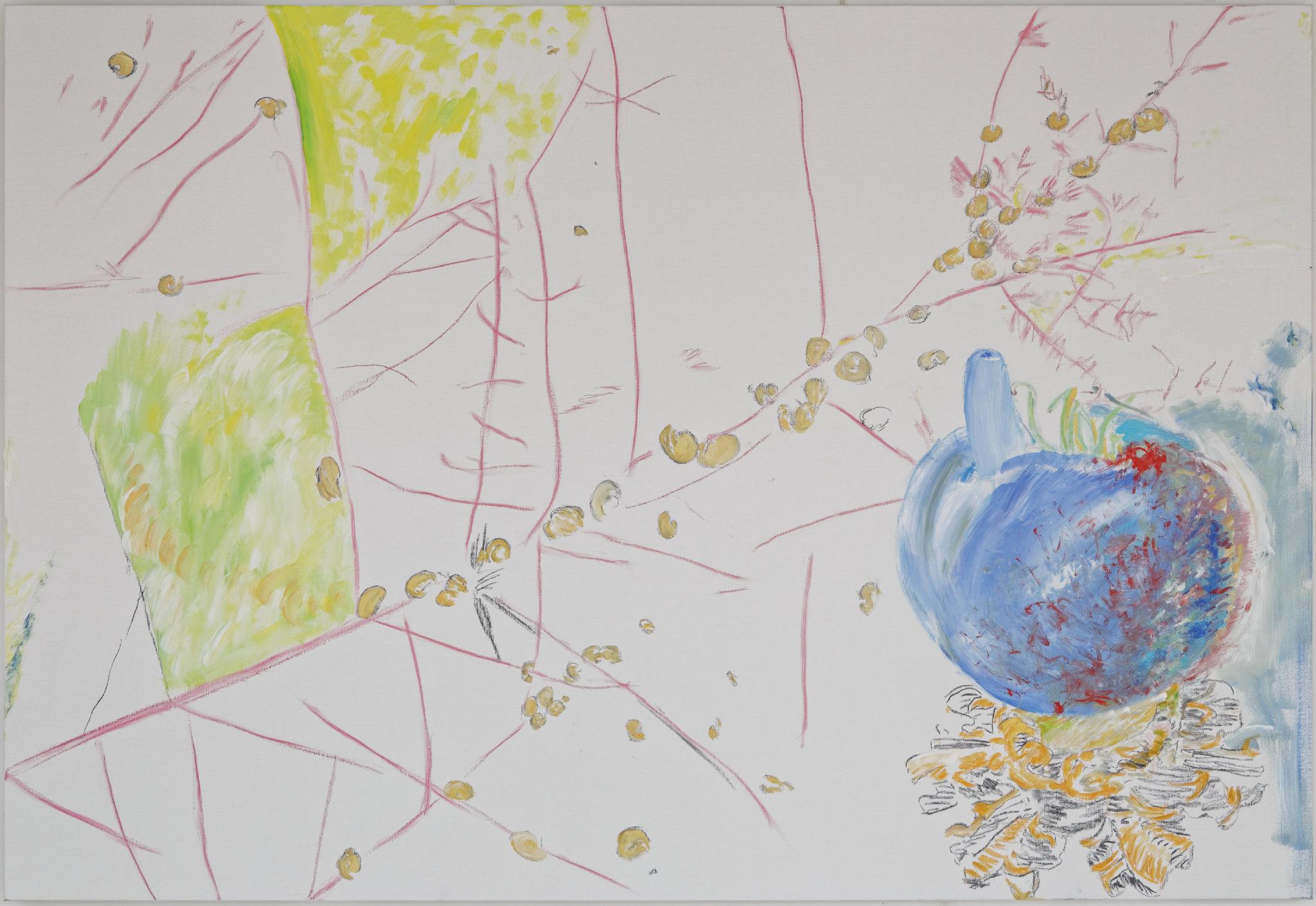 Bleu T (acrylic and mixed media, 130 x 190 cm - 2013)