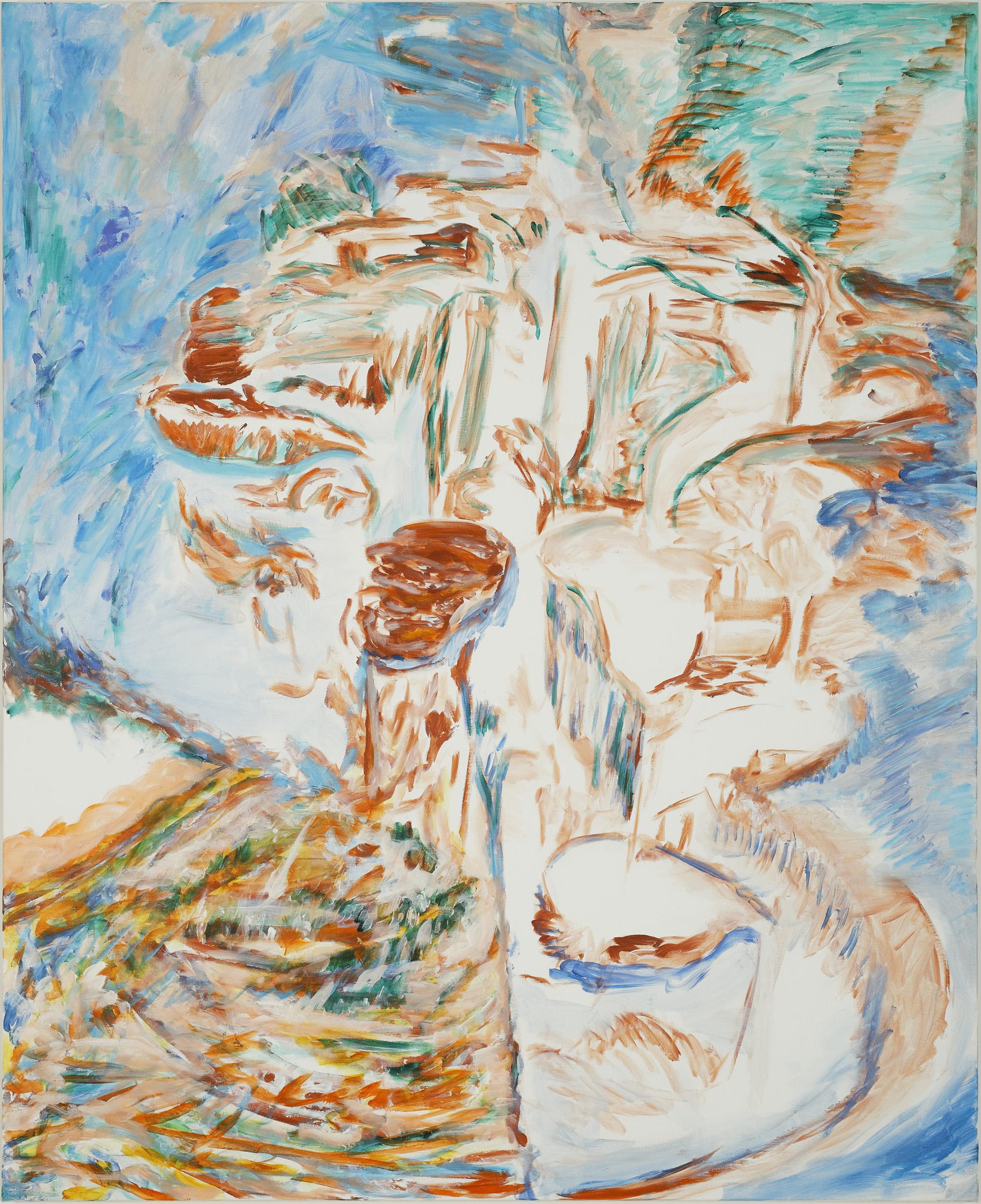 Cascade sucrée (acrylic on canvas, 130 x 190 cm - 2017)