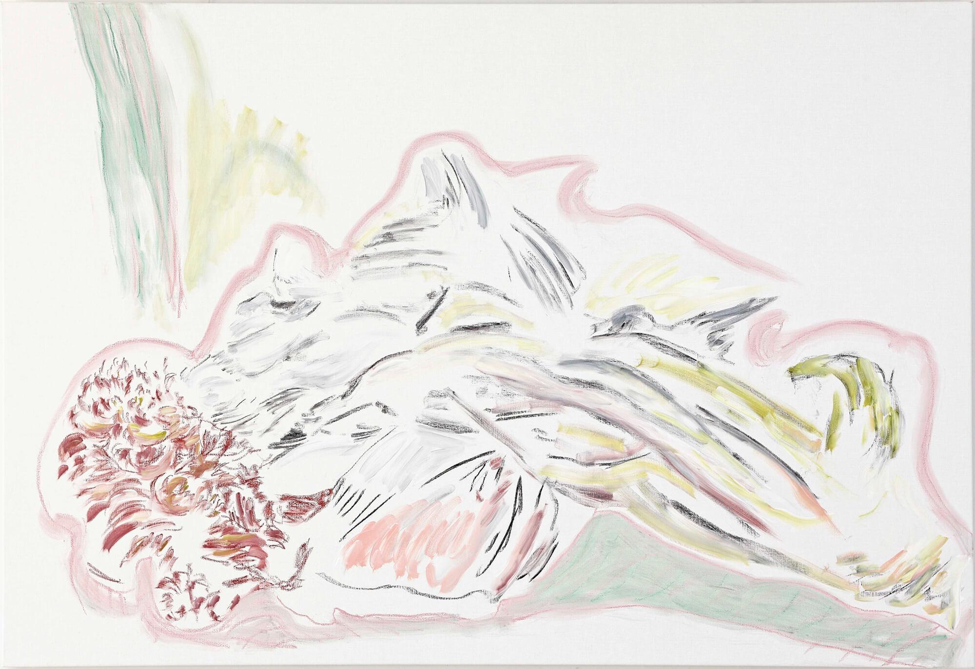 Colline de papier (acrylic and mixed media, 130 x 190 cm - 2013)