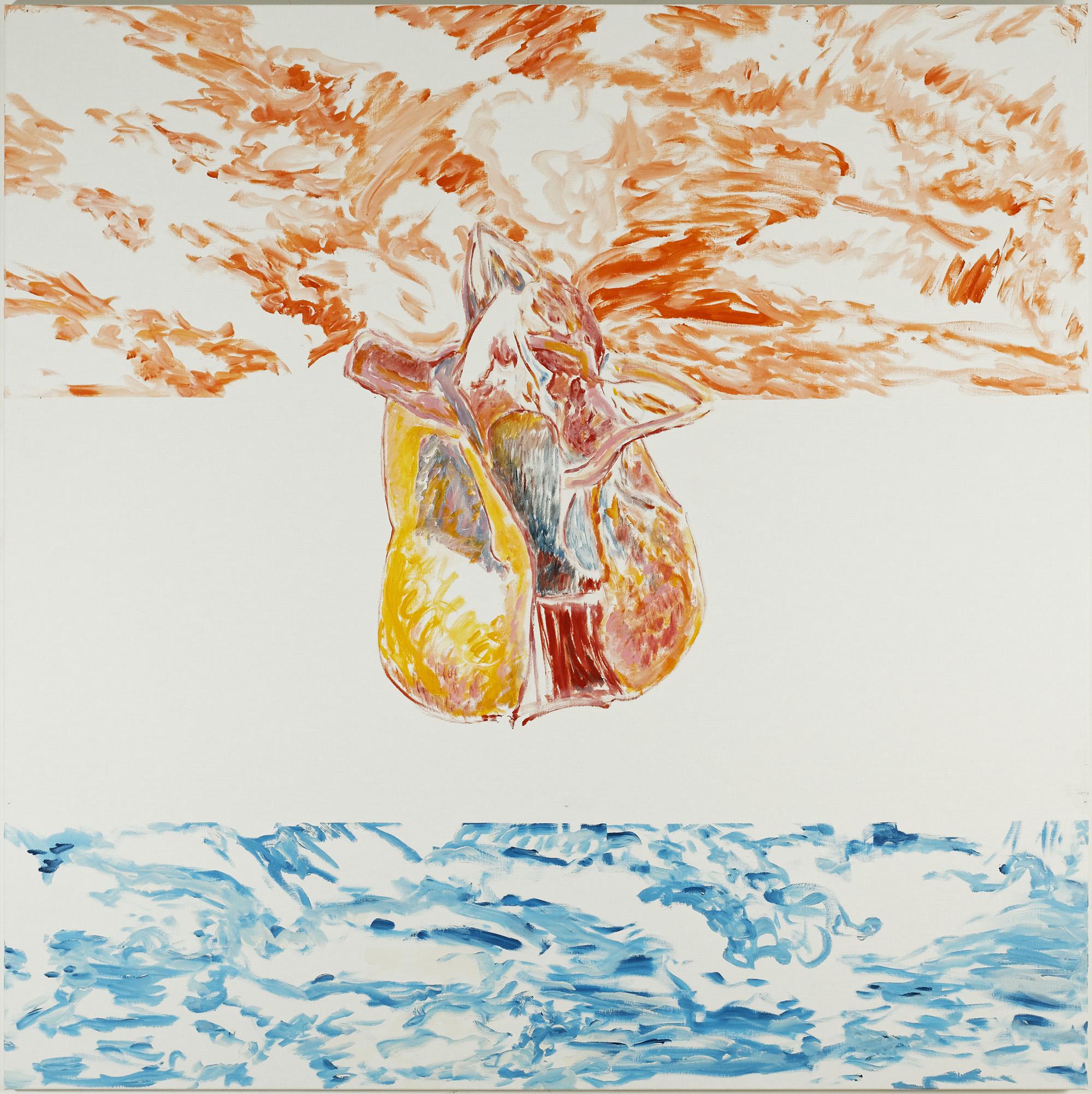 Diphleur affleure (B) (acrylic on canvas, 130 x 190 cm - 2018)