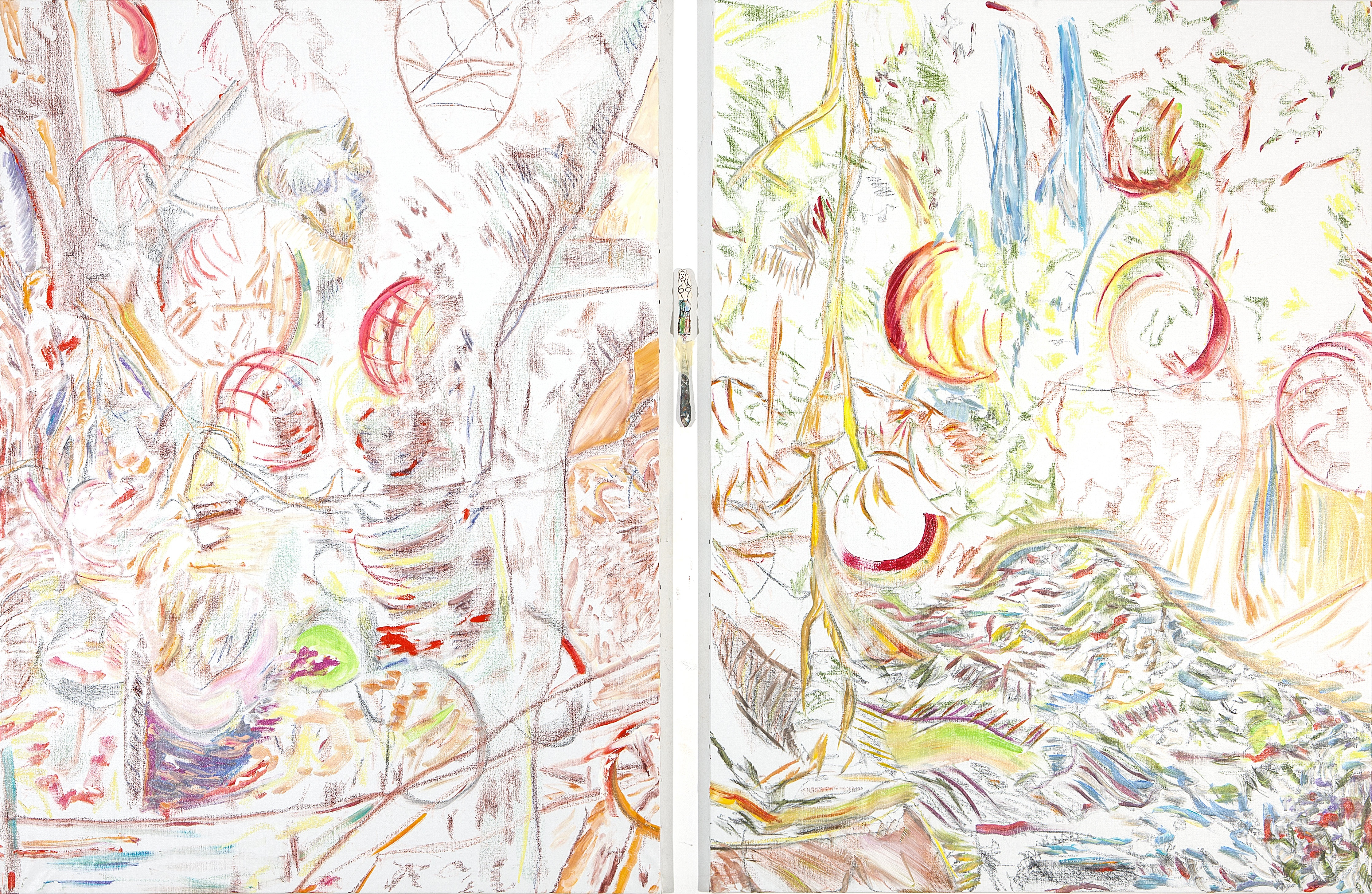 Herman'S (acrylic and mixed media, 151 x 210 cm - diptych - 2013)