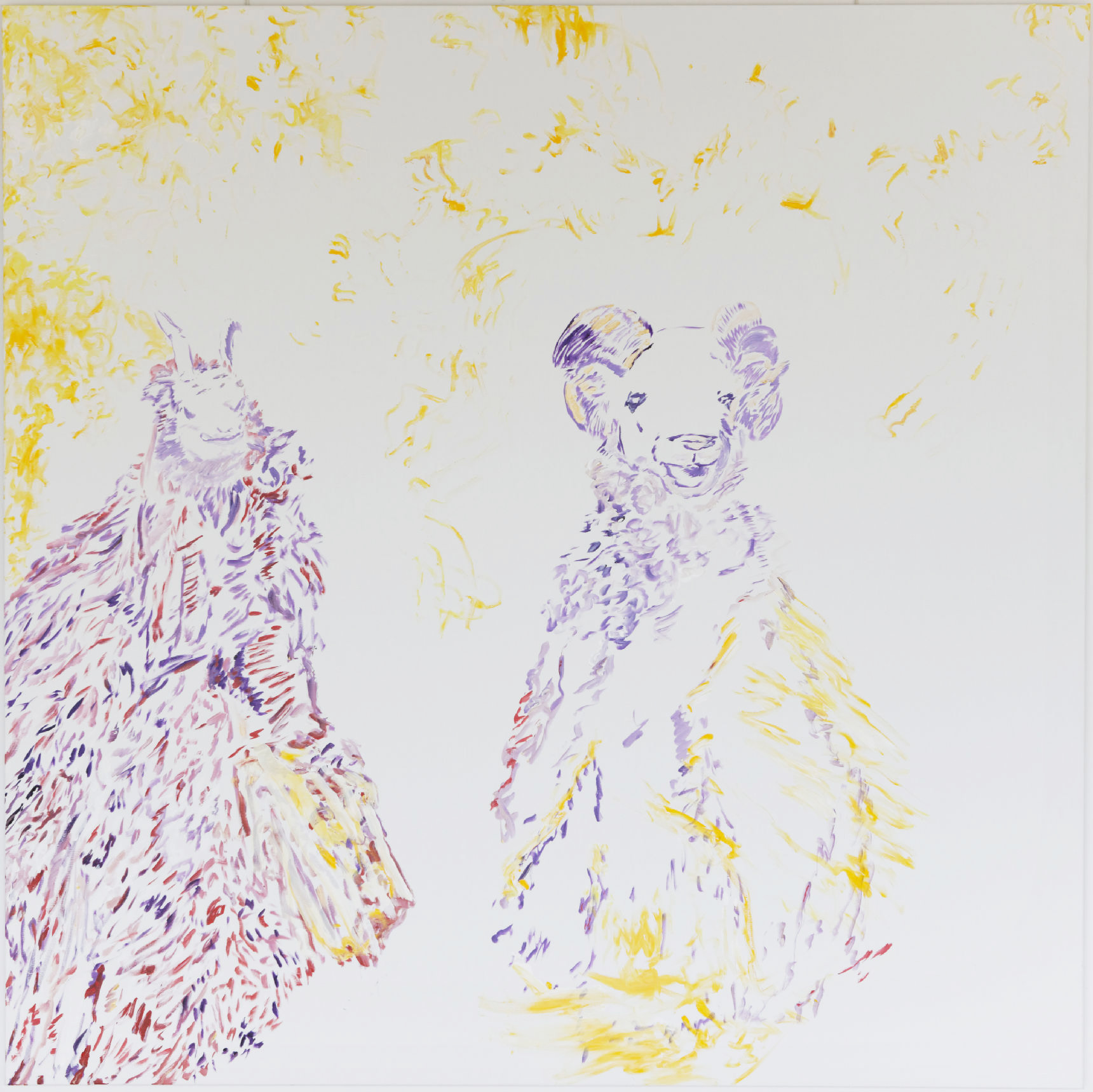 Las Madridas (acrylic and mixed media, 200 x 200 cm - 2014)