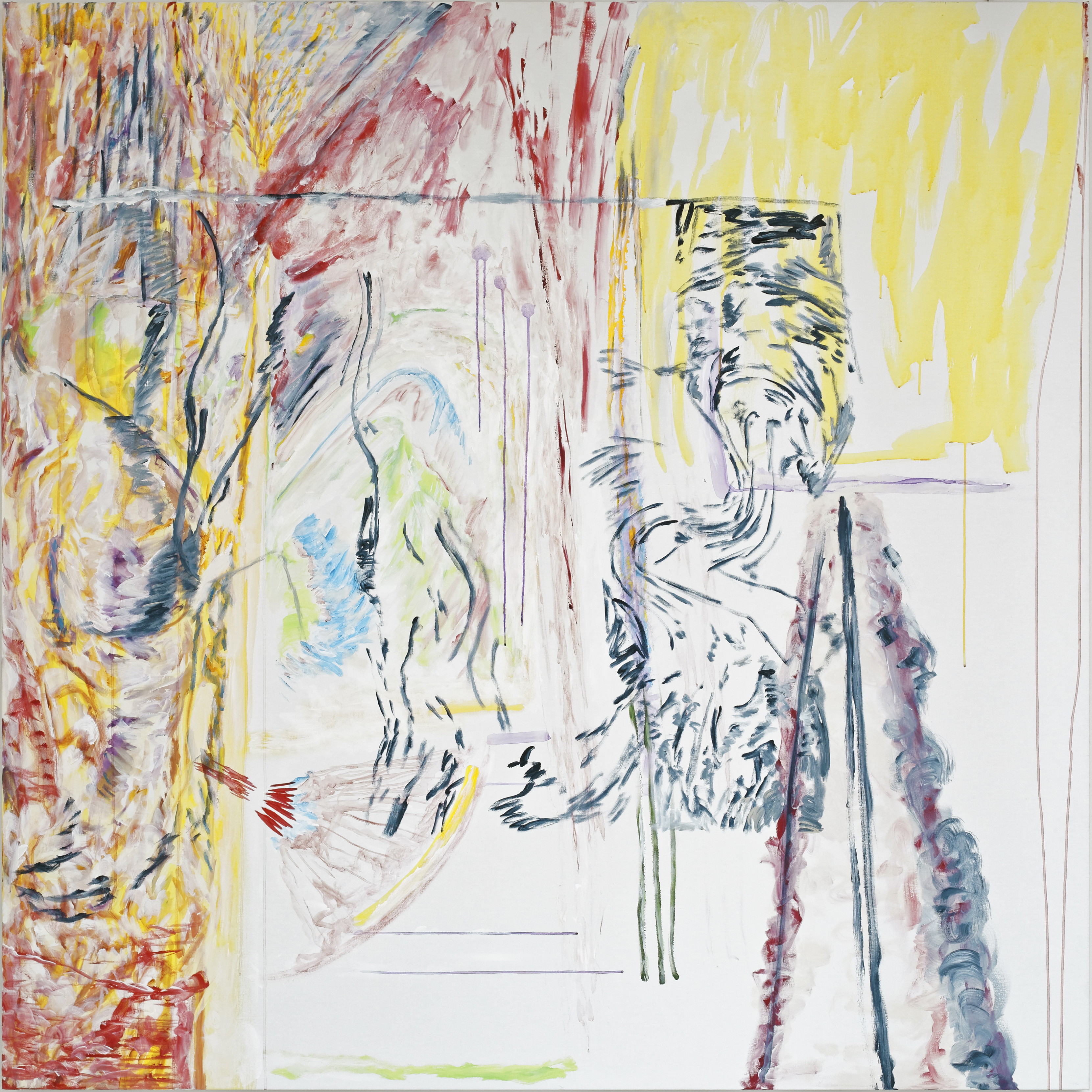 """(""""Dentro 1"""") acrylic on canvas, 200 x 200 cm - 2016-2019."""