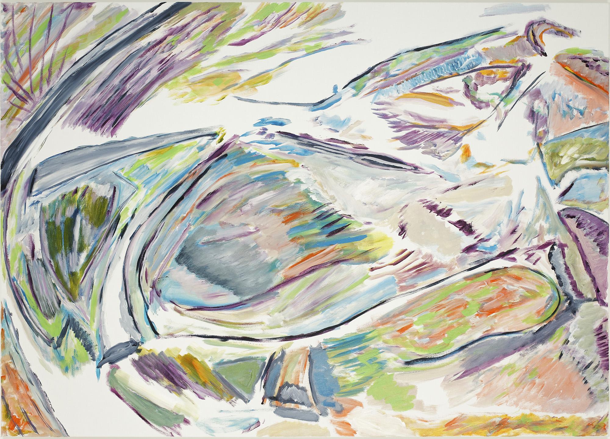 Tournis (acrylic on canvas, 100 x 140 cm - 2018)