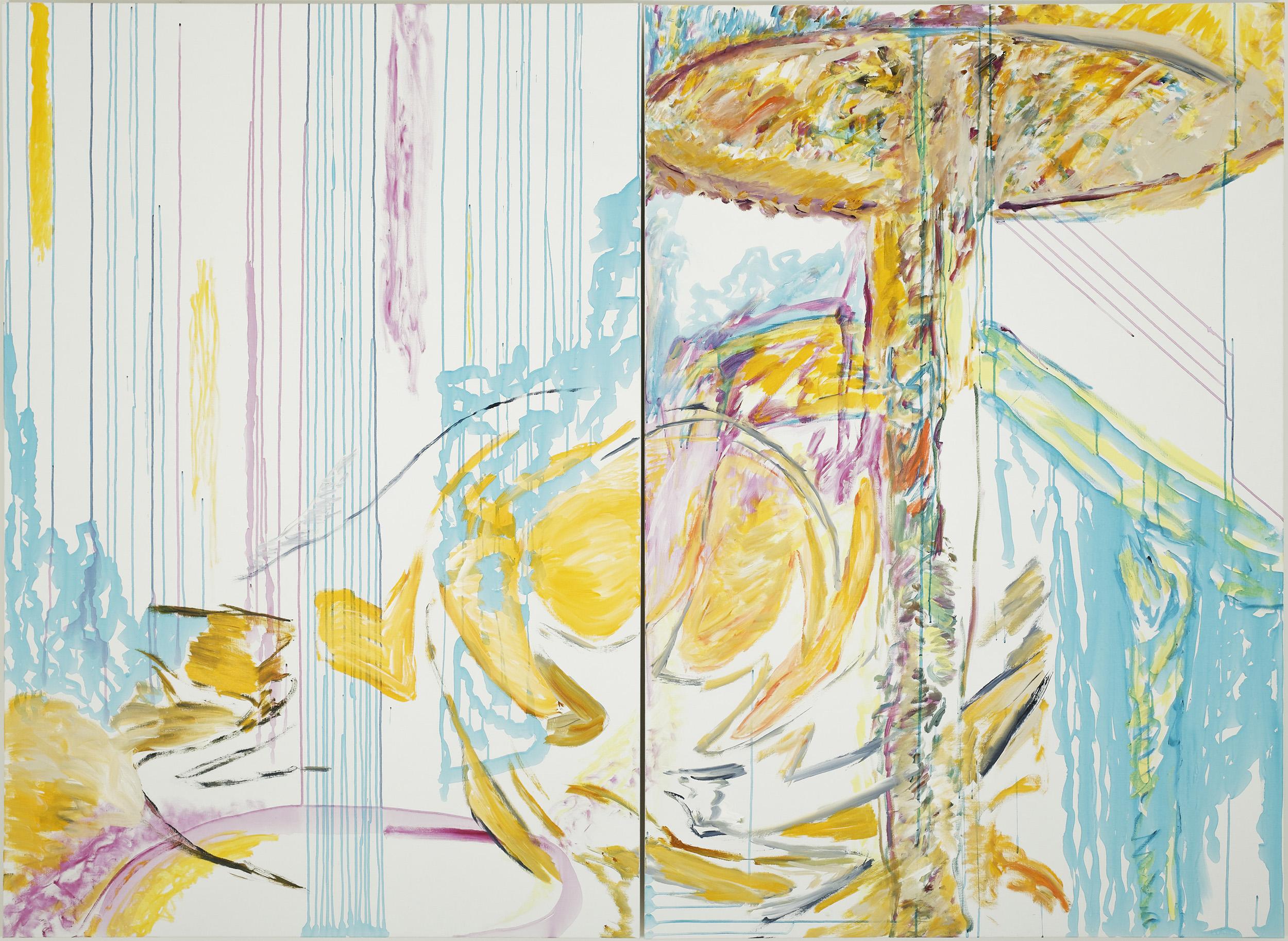 Up&Down (acrylic on canvas, 130 x 190 cm x 2 - 2018)
