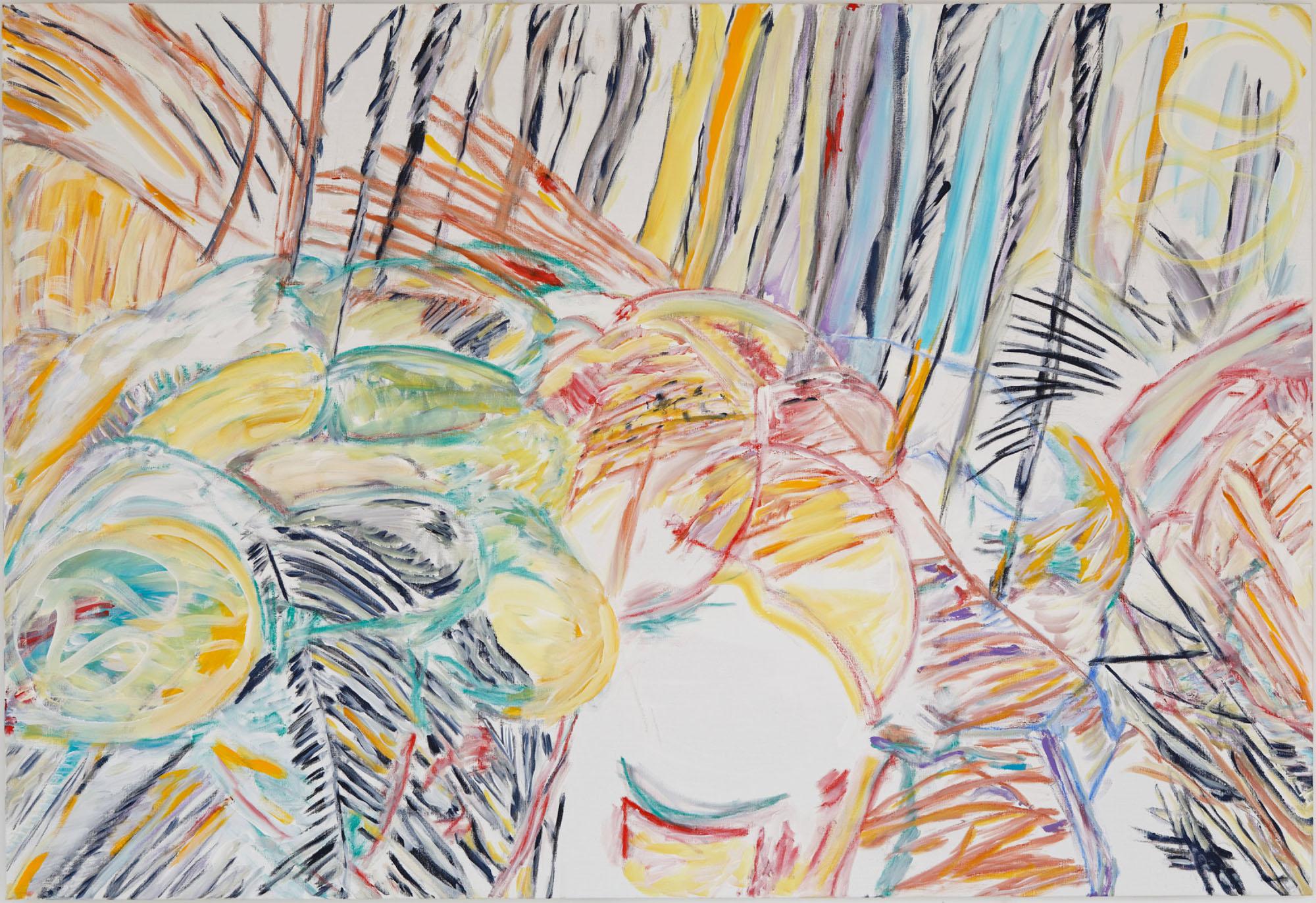 Les Saintes au Parc (acrylic, pastel and pencil on canvas, 130 x 190 cm - 2014- 2015)