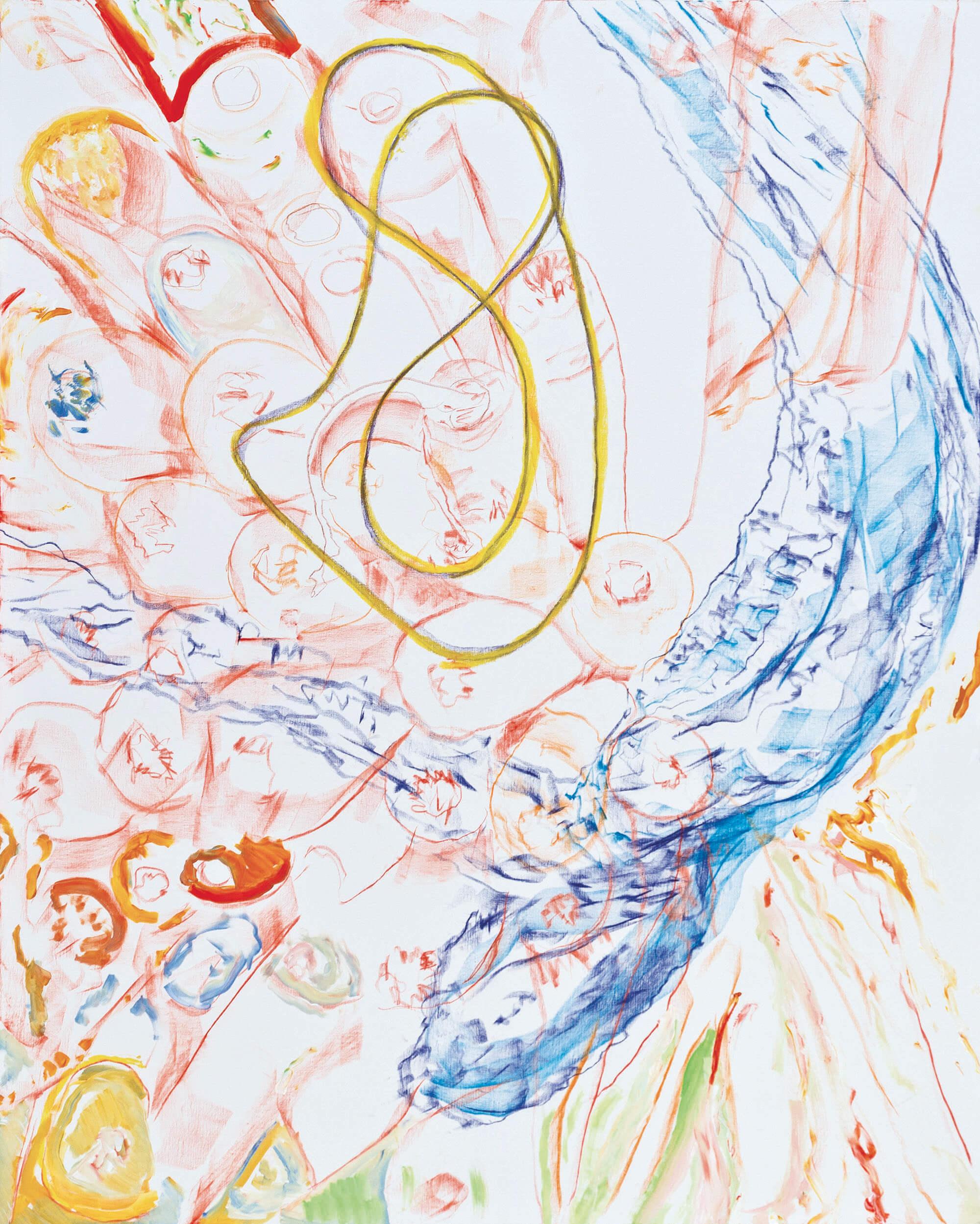 Tamaris Tree (acrylic, pastel and pencil on canvas, 163 x 130 cm - 2012)