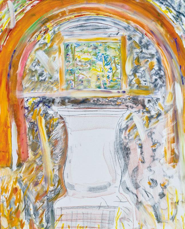 Terracozza (acrylic, pastel and pencil on canvas, 100 x 81 cm - 2012)