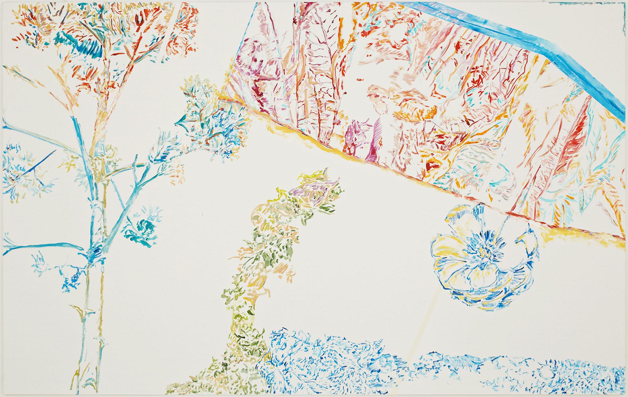 Prefigure (B) (acrylic on canvas, 200 x 300 cm - 2015).