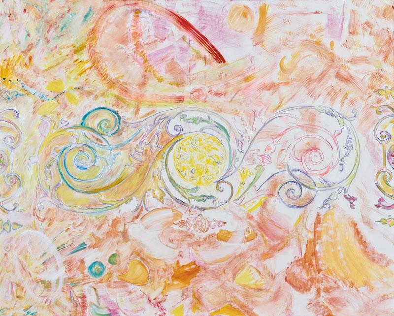 Vague (acrylic, pastel and pencil on canvas, 130 x 163 cm - 2011)