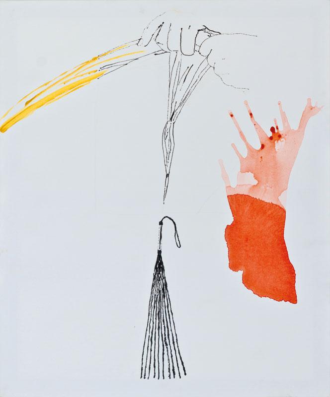 A la tâche (acrylic and mixed media, 120 x 100 cm - 2005)