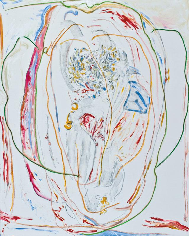 Graines d'espace (acrylic, pastel and pencil on canvas, 163 x 130 cm - 2012)