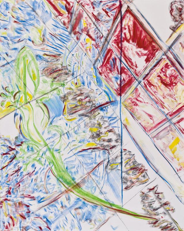 Bonnie Gecko (acrylic, pastel and pencil on canvas, 163 x 130 cm - 2012)