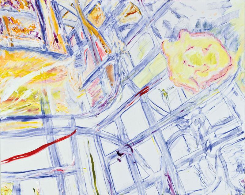Reflet du XVIe (acrylic, pastel and pencil on canvas, 130 x 163 cm -  2012)