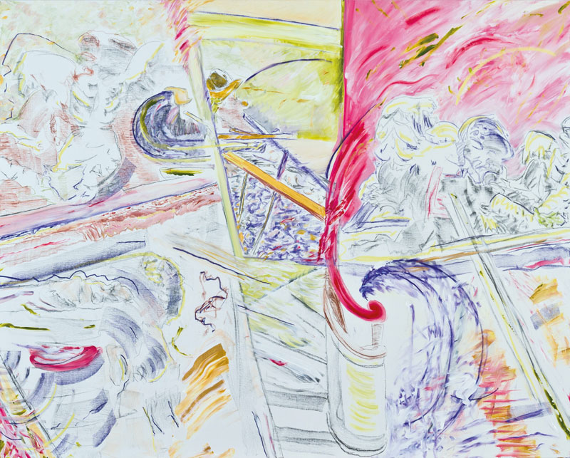 Garde-FouS (acrylic, pastel and pencil on canvas, 130 x 163 cm - 2012)